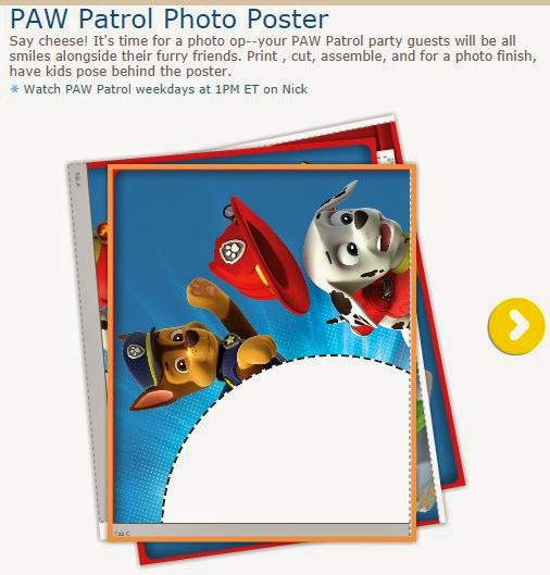 Paw Patrol: Free Printable Poster to place your photo.