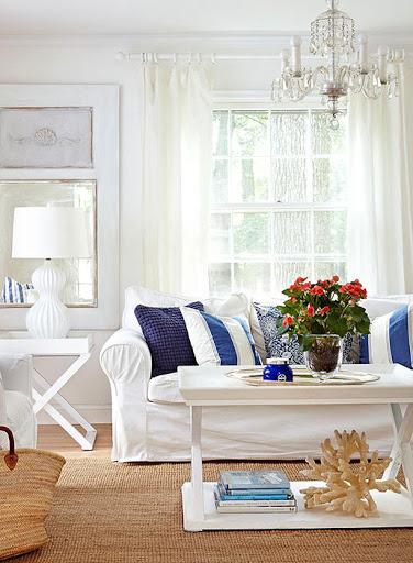 White Slip Covered Sofas Coastal Living Ideas