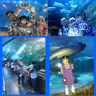 Keluarga Arisandy Joan Hardiputra liburan ke Seaworld Ancol