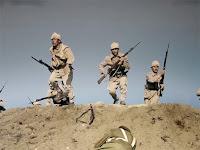 Süngü hücumuna kalkmış Kahraman Çanakkale askerleri