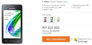 Harga baru Samsung Z2