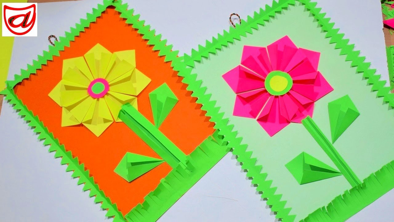 Best And Easy Paper Flower Wall Hanging Crazzy Crafting