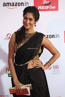 Sindhu looks fabulous in Black Saree designer choli at Mirchi Music Awards South 2017 ~  Exclusive Celebrities Galleries 033.JPG