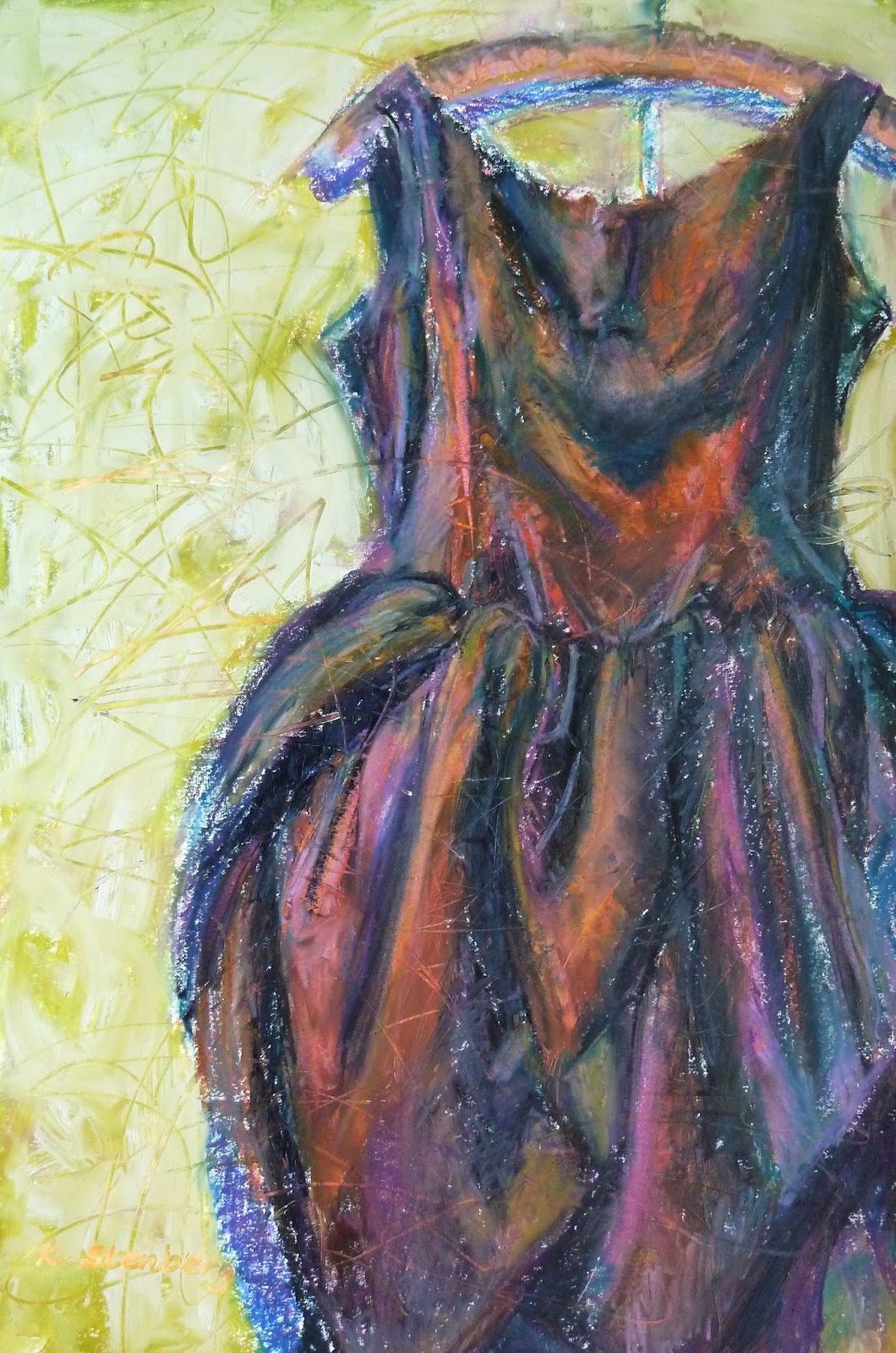 "Is Acrylic Paint Toxic >> Kim Stenberg's Painting Journal: ""Black Tulip Dress"" (oil ..."