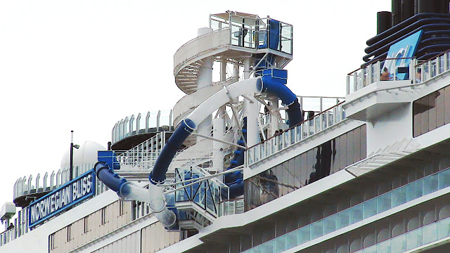 Norwegian Bliss' upper deck playground...