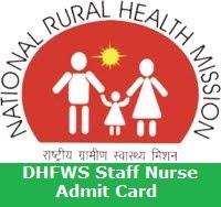 DHFWS Staff Nurse Admit Card