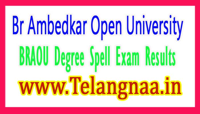 BRAOU Degree 1st 2nd Year Spell Exam Results 2018