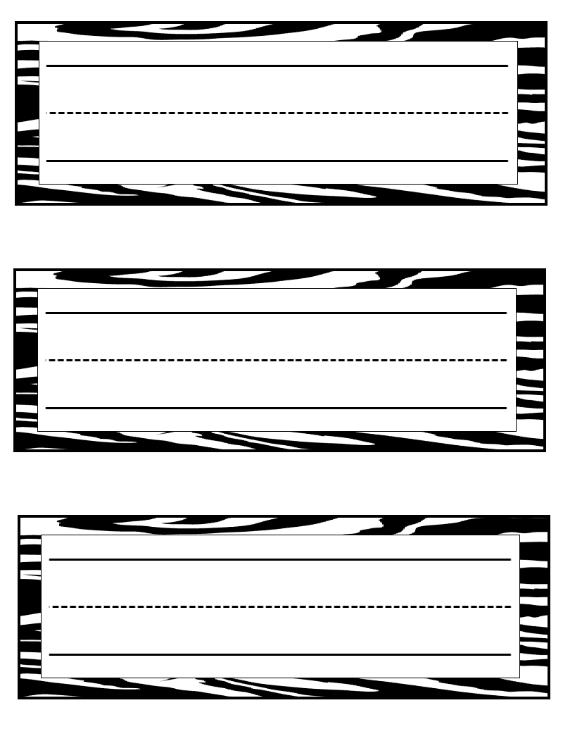 table name tags template printable - tales of a teacherista zebra print goodies