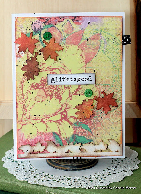 Fold Out Scrapbook Page with Sonata Collection by Quick Quotes featured in October Club Q and designed by Connie Mercer