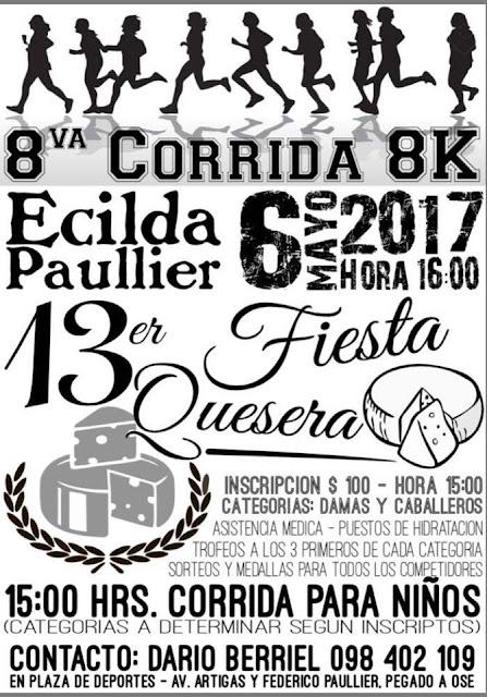 8k Fiesta quesera en Ecilda Paullier (Recorriendo San José, 06/may/2017)