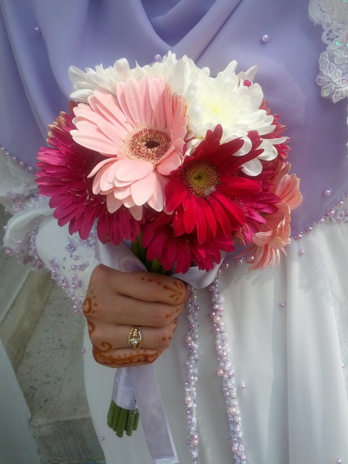 A Journey Of A Muslimah Bride How To Make Your Own Fresh Flower Hand Bouquet