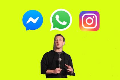 Facebook Mau Gabungkan WhatsApp, Instagram, dan Messenger Pada Tahun 2020