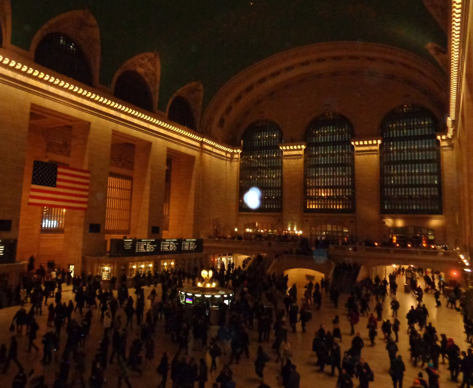 moving orb in Grand Central Station
