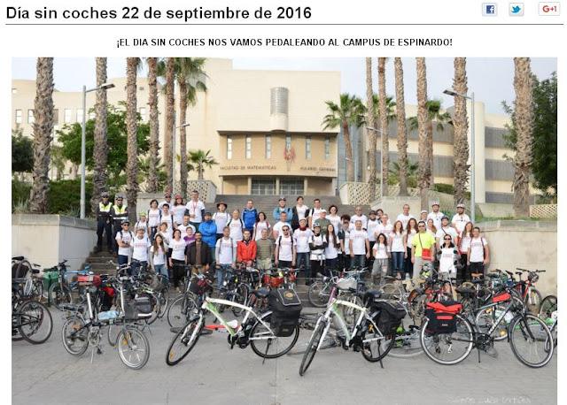 El día 22 de septiembre os proponemos que vayáis a la BUM en bici.