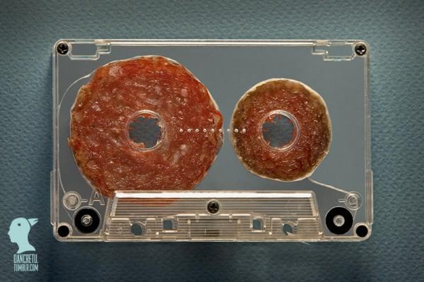 cassette y carne