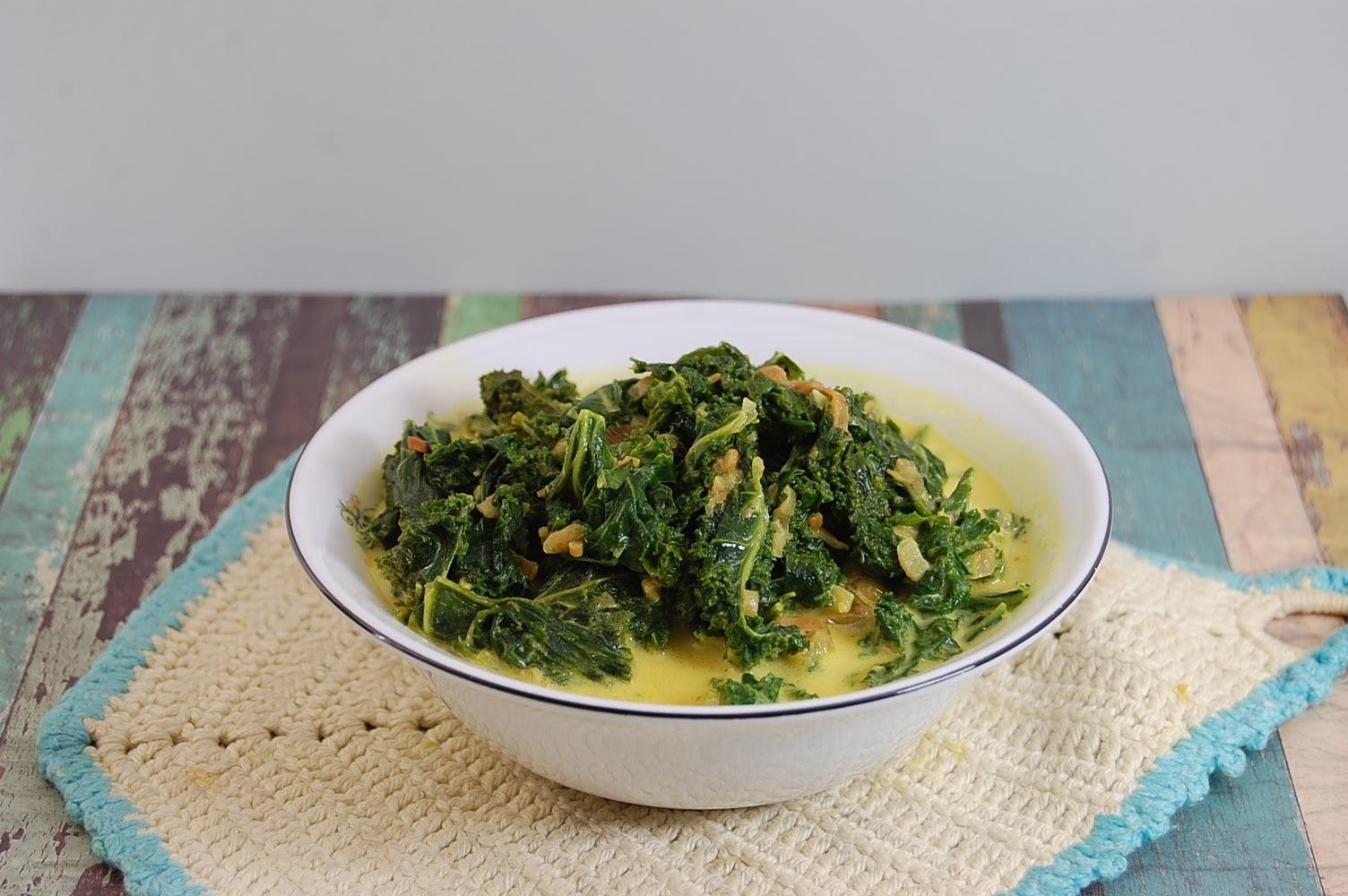 Grünkohl Eintopf mit Kurkuma indonesisch kochen
