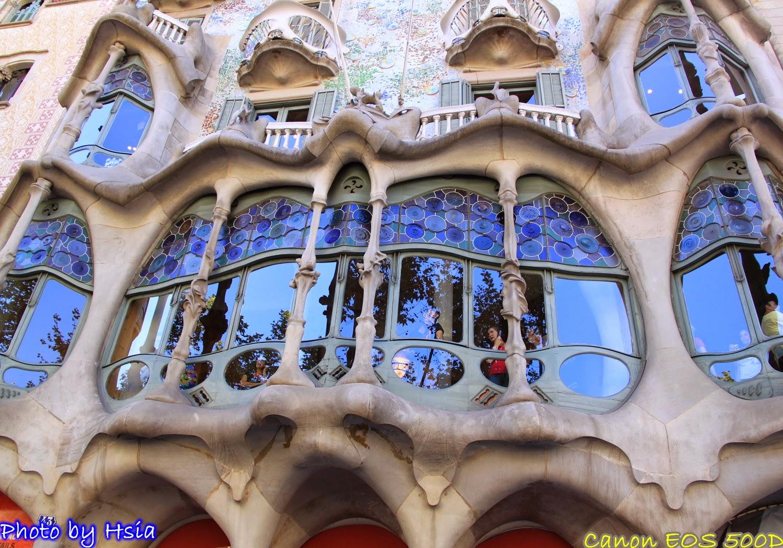 夏天的旅遊日記: 流浪西班牙Day14(下) - 高第在精品大街上散步 米拉之家Casa Mila 巴特由之家Casa Batllo