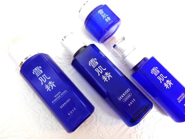 Review - Kose Sekkisei White Powder Wash, Lotion, Emulsion