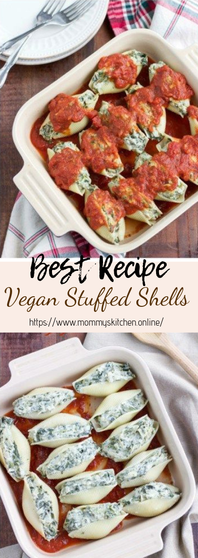 Vegan Stuffed Shells #vegan #recipevegetarian