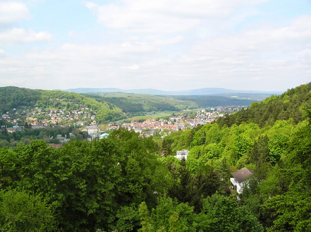 Bad Kissingen von Oben, Weg der Besinnung Bad Kissingen