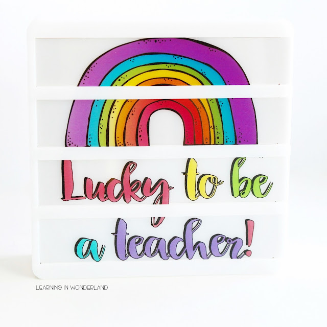 Adorable lightbox slides for the classroom!