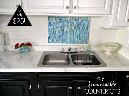 DIY Counters: Laminate to Marble for Only $25
