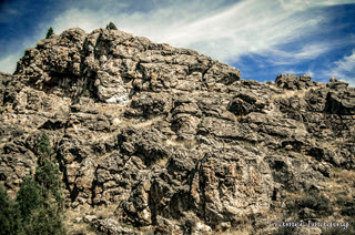 Cramer Imaging's professional quality nature photograph of a rocky cliff face in the mountains in Caribou National Forest, Bannock, Idaho