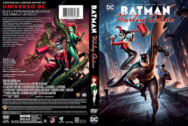 Capa DVD Batman and Harley Quinn [Custom]