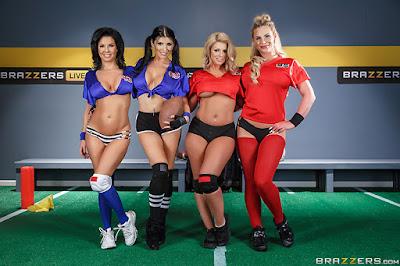Phoenix Marie, Veronica Avluv, Romi Rain & Brooklyn Chase – The Brazzers Halftime Show II