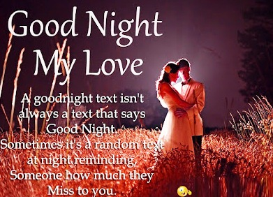 Good night love message