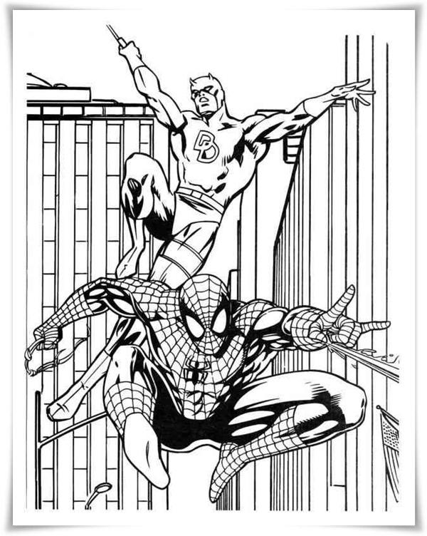 Malvorlagen spiderman kostenlos
