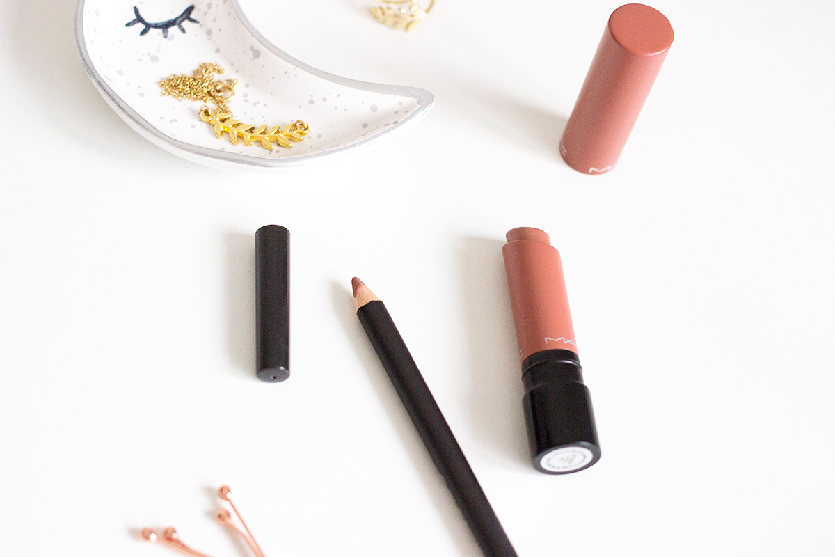 MAC Liptensity Lipstick in Doe and Stripdown lip pencil review