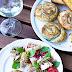 Nudelsalat mit Himbeeren und Käse -ein schneller Sommersalat