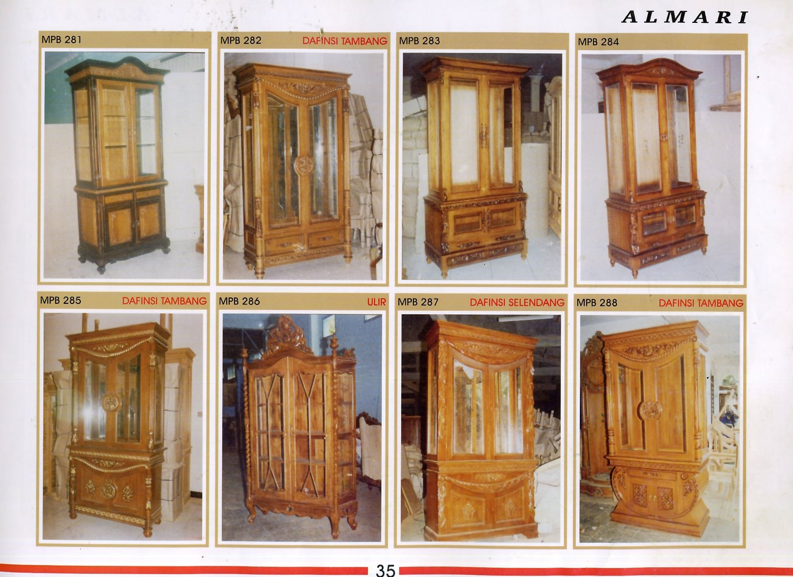 Katalog Mebel Lemari Furniture Mebel Jati Khas Jepara