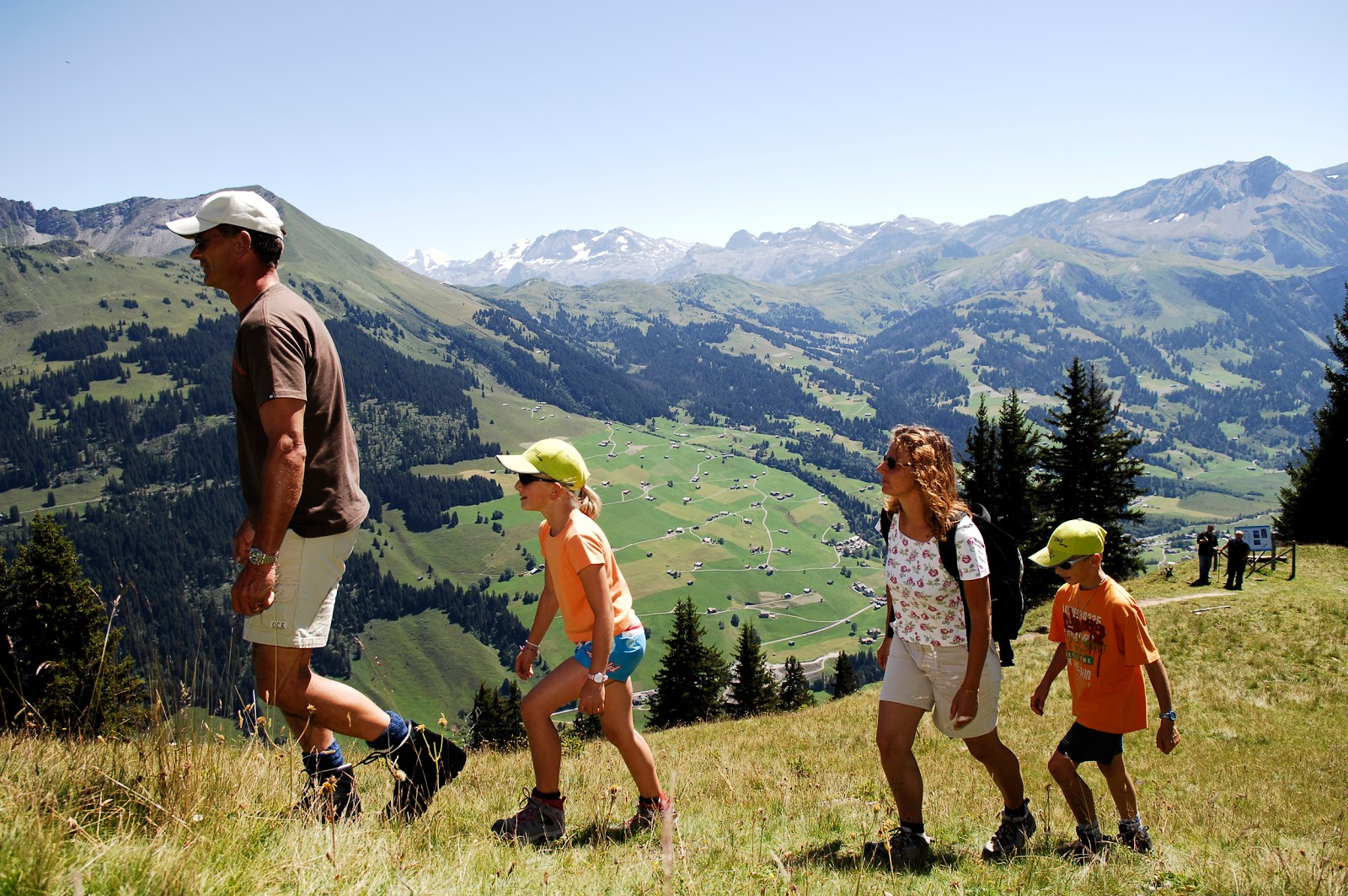 Summer hiking in Gstaad can be as leisurely or as challenging as you like. Photo: Gstaad Saanenland Tourismus.