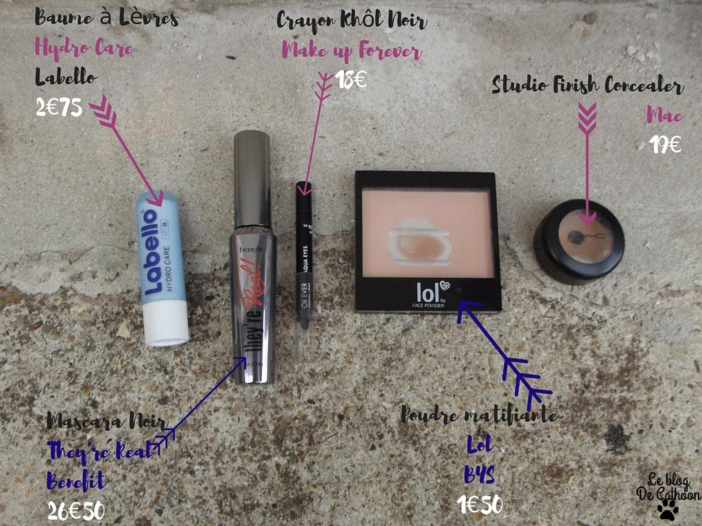 produits utilisés pour un maquillage rapide