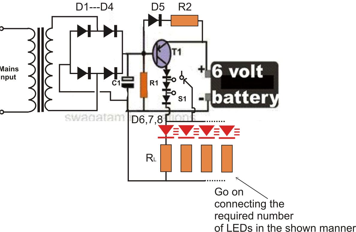 hight resolution of 6 volt led wiring diagram diagram data schema 6 volt led emergency light circuit nerv 6