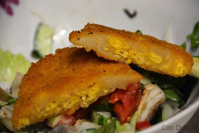 שניצל תירס ביתי טבעוני Vegan corn schnitzel