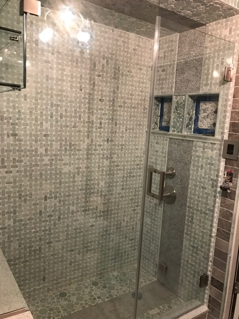 Types of shower glass