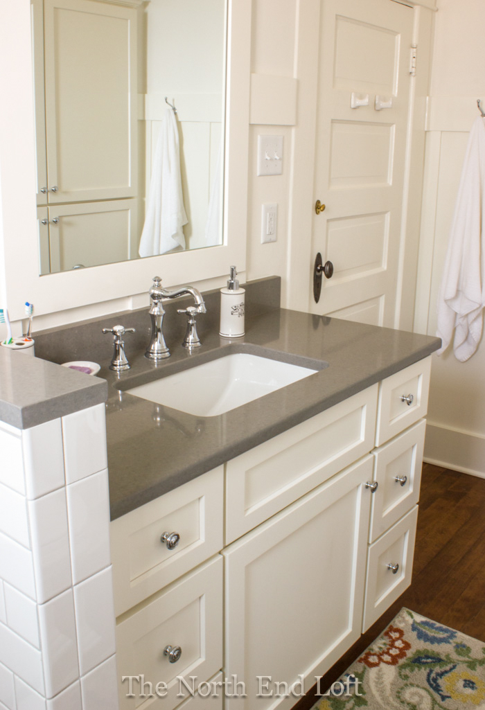 bathroom cabinets and countertops the end loft a remodel update and new neutral decor 11218
