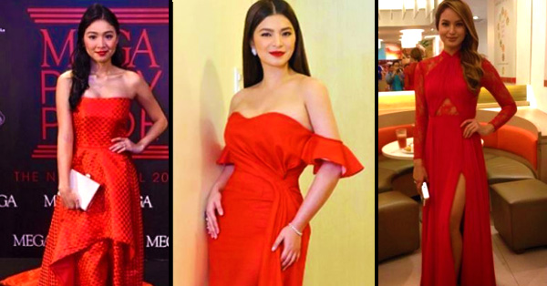Ladies In Red: Angel Locsin, Arci Muñoz, Sarah Lahbati and Nadine Lustre Shows How To Maximize Your Sexiness Wearing a Red Dress