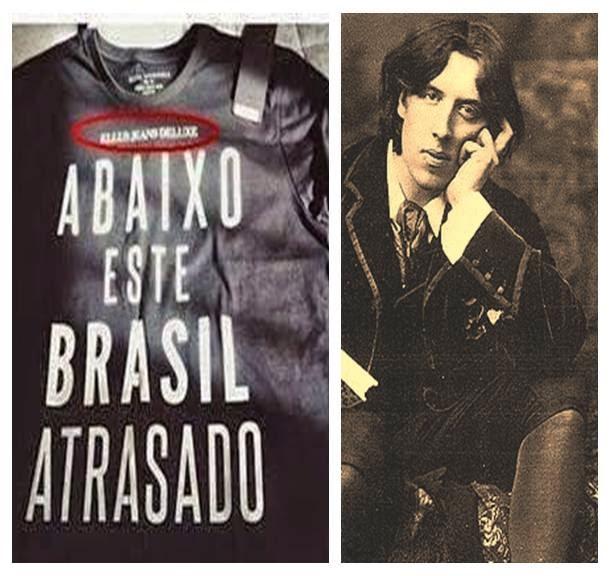 """12cdd9d8e8 Modelos vestindo uma camiseta onde se lia """"Abaixo Este Brasil Atrasado"""".  Dessa forma terminava o desfile da Ellus no último SPFW após um desfile  repleto de ..."""