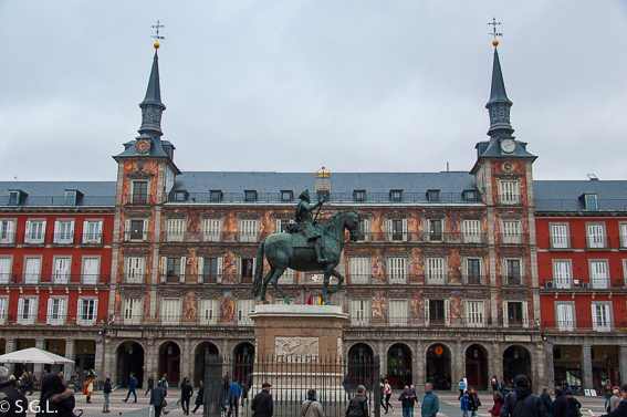 La plaza mayor. Ruta lowcost por Madrid