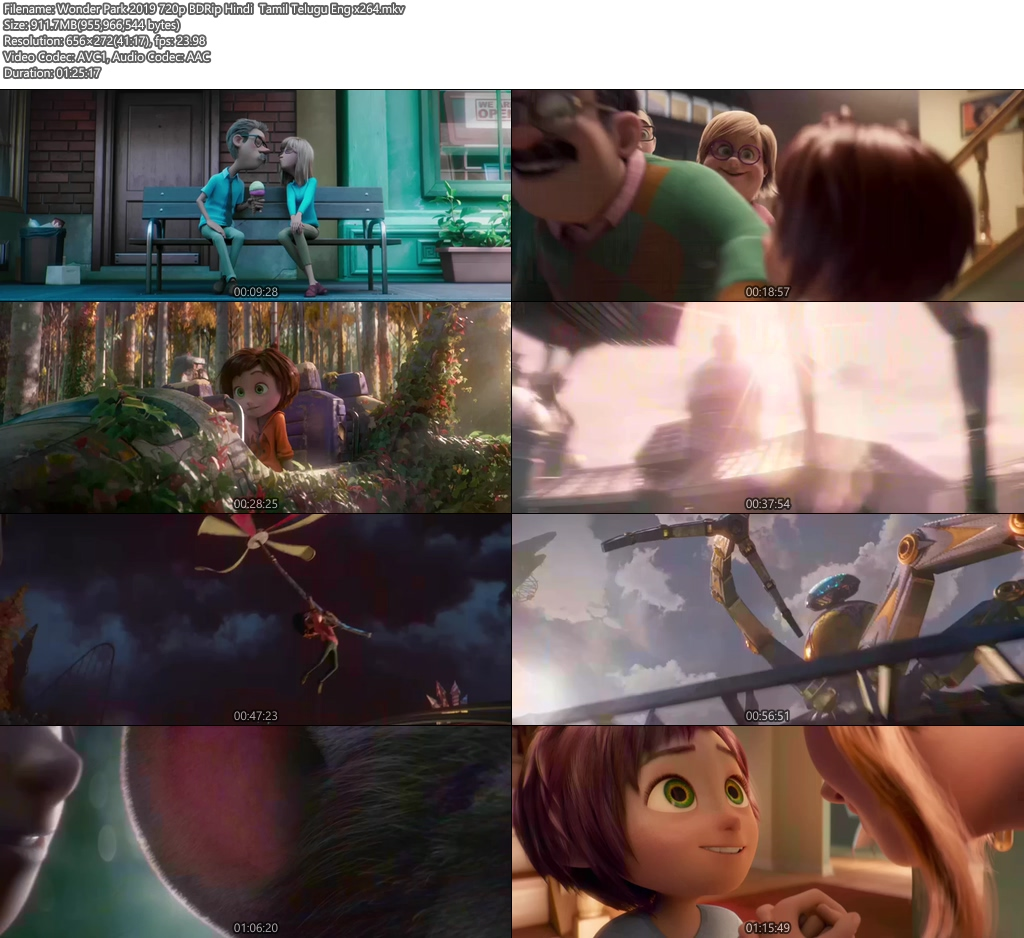 Wonder Park 2019 720p BDRip Hindi Tamil Telugu Eng x264 | 480p 300MB | 100MB HEVC Screenshot