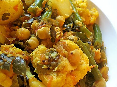 chickpea vegetable curry