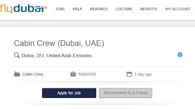 وظائف شركة فلاى دبى تطلب ضيافه جوية 2016