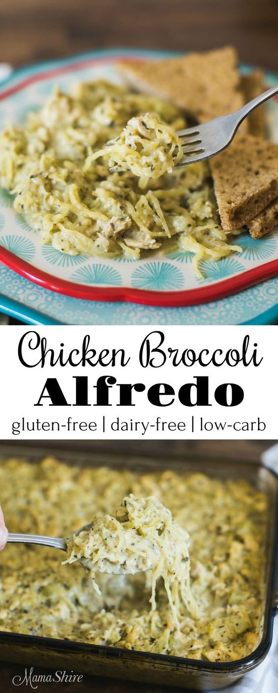 Chicken Broccoli Alfredo (Gluten Free, Dairy Free)