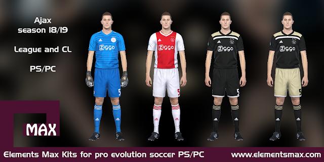 Ajax 18/19 kits pes