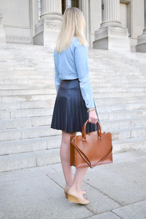 Jcrew Leather Skirt