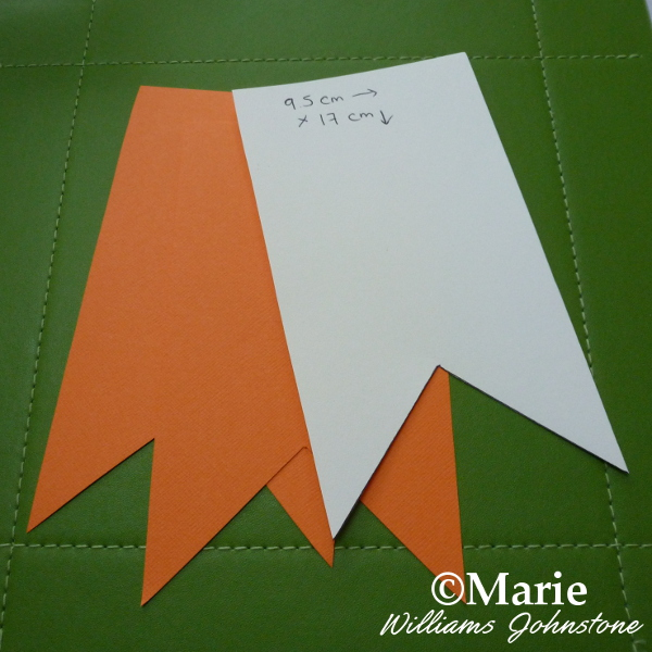 Making the Pennant Banner Flag Sections